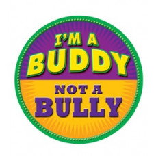 I'm a Buddy - Not a Bully - Purple and Yellow Temporary Tattoo