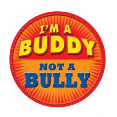 I'm a Buddy - Not a Bully - Orange Temporary Tattoo