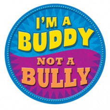 I'm a Buddy - Not a Bully - Blue and Purple Temporary Tattoo