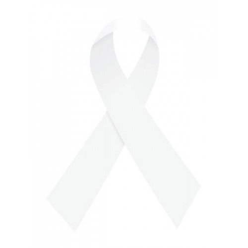 White Ribbon Temporary Tattoo