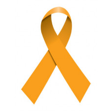 Orange Ribbon Temporary Tattoo