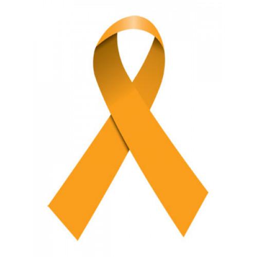 Orange Ribbon Temporary Tattoo
