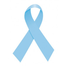 Light Blue Ribbon Temporary Tattoo