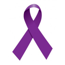 Purple Ribbon Temporary Tattoo