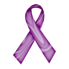 Purple Swirl Ribbon Temporary Tattoo