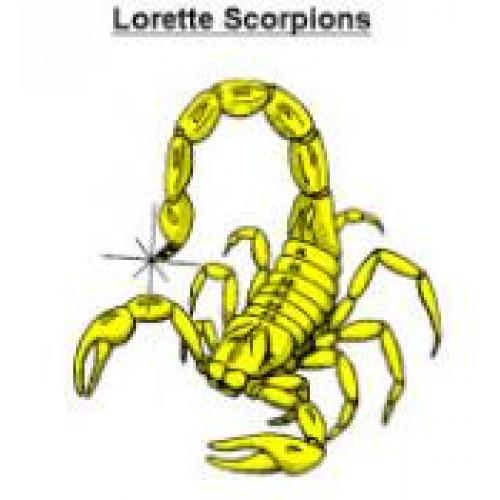 "College Lorette Collegiate ""Lorette Scorpions"" Temporary Tattoo"