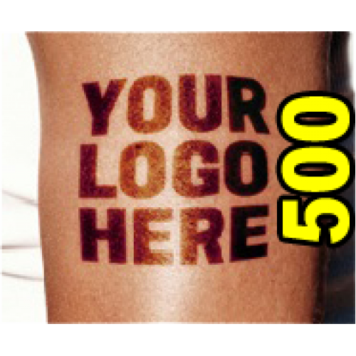 500 Custom Temporary Tattoos