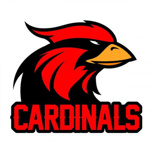 Large Cardinal Mascot Temporary Tattoo with Cardinals wording