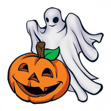 Ghost and Pumpkin Temporary Tattoo