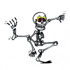 Glow In The Dark Dancing Skeleton Temporary Tattoo
