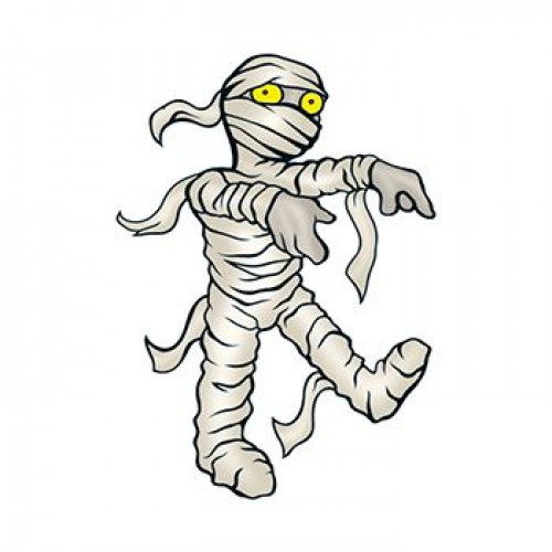Mummy Temporary Tattoo