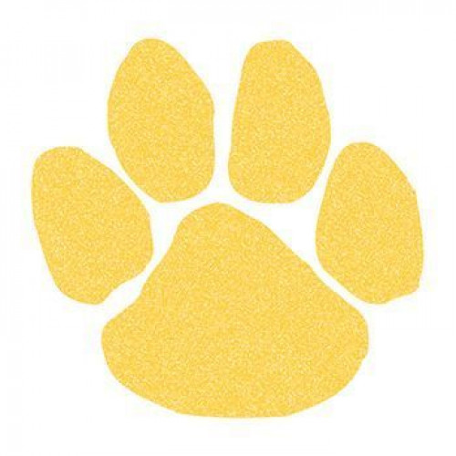 Yellow (Gold) Glitter Paw Print Temporary Tattoo