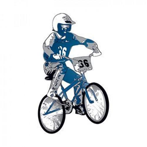BMX Bike Temporary Tattoo